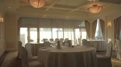 Hall of chic restaurants Stock Footage