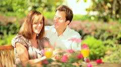 Caucasian Couple Time Together Sunshine Stock Footage