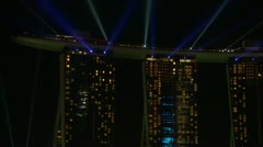Close up of Marina Bay Sands hotel light display, Singapore. Stock Footage