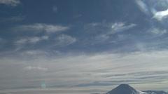 Sky to Mount Ngaruhoe Stock Footage