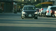 Car Driving in a parking lot Stock Footage