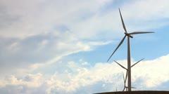 Windmill closeup - stock footage