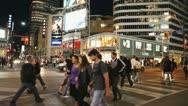 Toronto City Cross Walk At Night Stock Footage