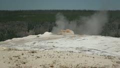 Old Faithful Geyser at Yellowstone 1 Stock Footage
