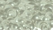 Pearl ball eggs,droplets liquid,bubble blister,Gems diamonds jewelry crystal. Stock Footage