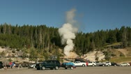 Steam from a geyser 2 Stock Footage