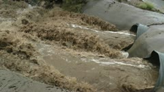 Flood Control Pan Stock Footage