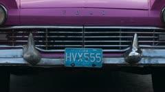 Classic cuban car havana cuba Stock Footage