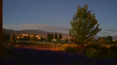 Scenic Kelowna Lavender Farm Night Timelapse - stock footage