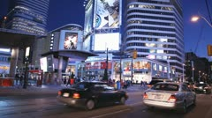 Eaton Centre Exterior At Night Stock Footage