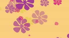 Sixties Yellow Flower Background Loop - stock footage