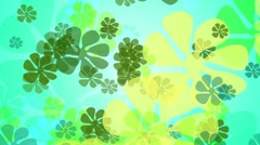 Seventies Green Flower Background Loop - stock footage