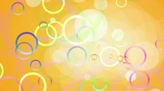 Yellow Circles Background Loop - stock footage