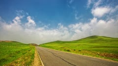 sky and traffic in tibetan highland,time lapse. - stock footage