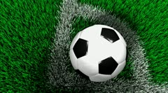 Soccer corner kick, football, sport, field, grass. Stock Footage