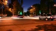 Traffic of evening city. Timelapse Stock Footage