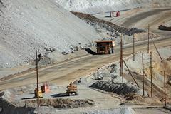 Kennecott Mine trucks 0770.jpg - stock photo