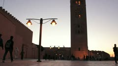 Koutoubia Mosque, Marrakech Stock Footage