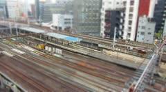 Timelapes of Japan Railway Stock Footage