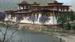 Punakha dzong in bhutan Stock Footage