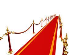 Red carpet - stock illustration