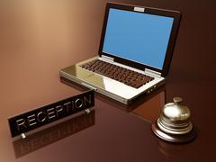 Desk reception Stock Illustration