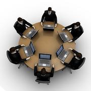 Round table Stock Illustration