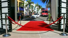 Red carpet event Stock Footage