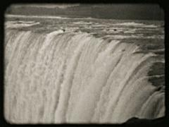 Vintage Niagara Falls Landscape Panorama 03 - Old 16mm Film Stock Footage