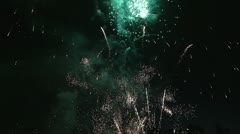 Fourth of July Holiday Fireworks Celebration 1080p - stock footage