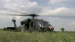 Blackhawk helicopter takeoff 10PR - stock footage