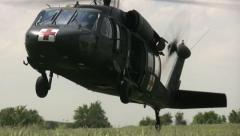 Blackhawk helicopter landing 12PR - stock footage
