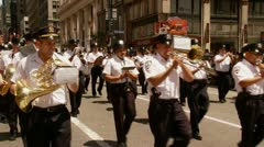 NYPD Band marches in the 2012 New York Pride Parade Stock Footage