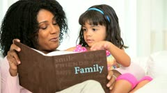 Mother Cute Pre School Child Photo Album - stock footage