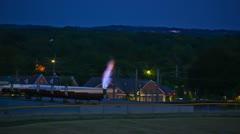 Methane Gas Burnoff - Time Lapsed - stock footage