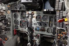 Russian Mig-29 Fulcrum cockpit close Stock Photos
