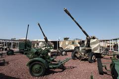 Soviet anti aircraft guns  9392.jpg - stock photo