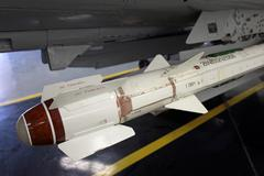Soviet fighter aircraft heat seek missile Stock Photos