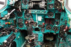 Soviet Mig-23 Flogger cockpit Stock Photos