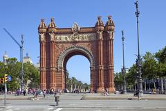 Arc de Triomf in Barcelona Spain - stock photo