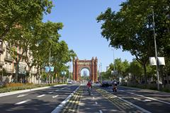 Barcelona Spain Arc de Triomf - stock photo