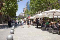 Stock Photo of Barcelona Spain sidewalk cafe