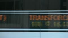 TSX Ticker Stock Footage