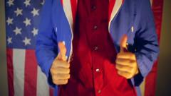 America approve approval thumbs up Stock Footage