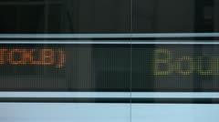 TSX Toronto Ticker Sign Stock Footage
