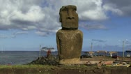 Stock Video Footage of Moai in Easter Island