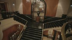 Stairs at the hotel in Singapore Stock Footage
