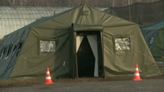 tent on military camp - stock footage