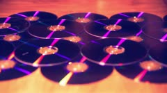 Cds DVDs disc discs Stock Footage