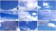 Clouds collage Stock Footage